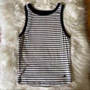 American Eagle Outfitters Tops - AMERICAN EAGLE ESSENTIALS STRIPED TANK TOP